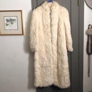 Beautiful white fur coat